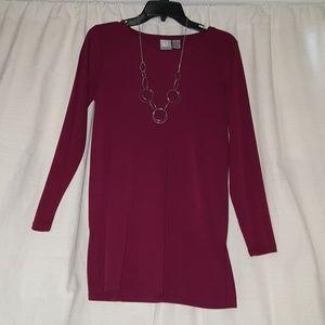 Chandler Hill burgandy tunic blouse